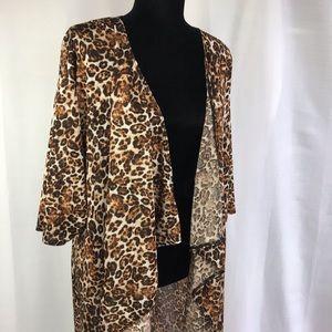 Lularoe Shirley kimono leopard print